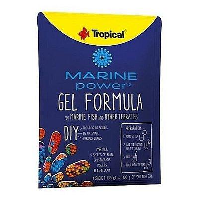 Ração Tropical Marine Power Gel Formula