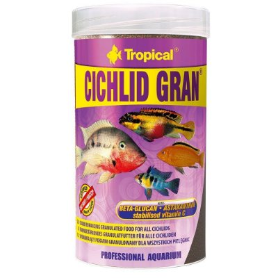 Alimento Tropical Cichlid Gran para Peixes