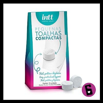 Toalhas de Higiene Íntima compactas (kit 10 unidades)