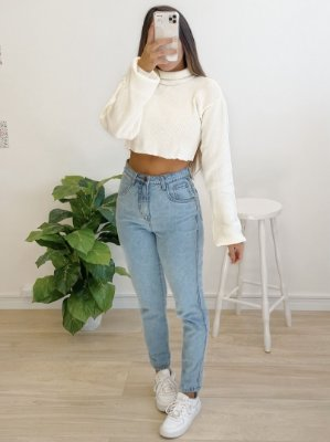 cropped tricô crush off white