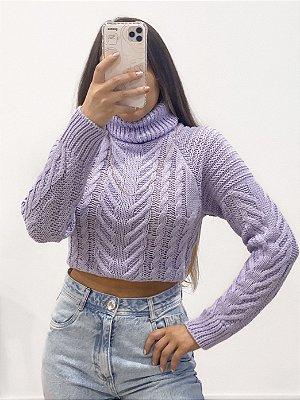 tricô alicia lilás