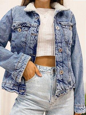 jaqueta jeans pelinhos bel
