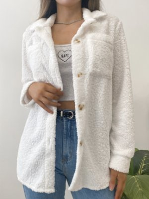 camisa teddy sarah white