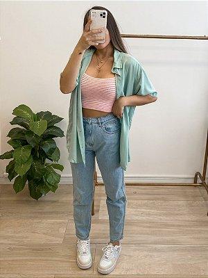 camisa isabela aqua
