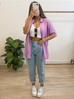 camisa isabela lilás