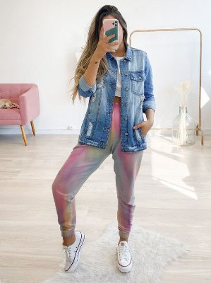 jaqueta jeans over talita