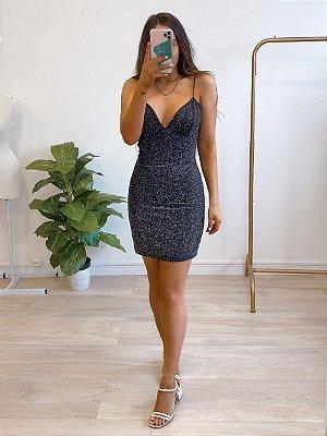 vestido lurex elise