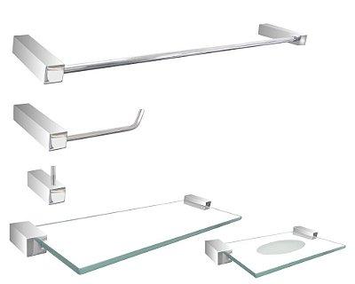 Acessório para banheiro metal aluminio e aço inox Grego Metal 301DCA