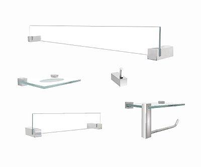 Acessórios para banheiro suporte para acessórios 5 peças 401VTA Grego Metal