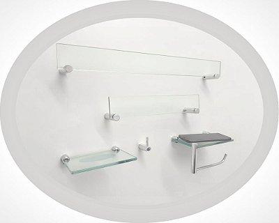 Acessório kit para banheiro suporte para acessórios Retrô 201RTA Grego Metal