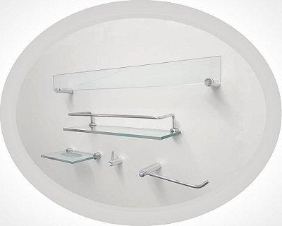 Acessório para banheiro completo 5 peças Retrô 204RTA Grego Metal