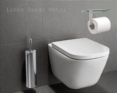 Porta papel higiênico suporte de celular Retrô 212RTA Grego Metal