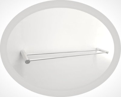 Porta toalha duplo de metal suporte para roupas Cellphone 106CPB Grego Metal