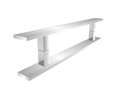 Puxador para porta madeira/vidro [Decor 300DC] duplo 40 cm Grego Metal