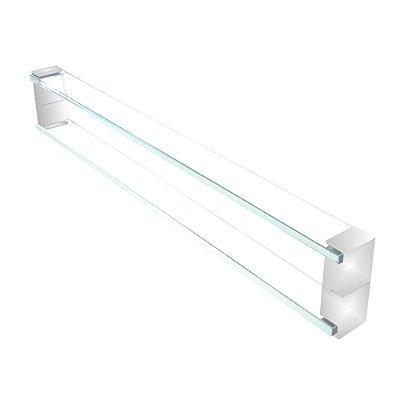 Puxador de vidro para portas de madeira e vidro110RT 100cm Grego Metal