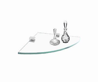 Porta shampoo prateleira canto de vidro 413VTA Grego Metal