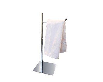 Toalheiro de bancada simples acessório para pia metal aço inox 116CPC Grego Metal