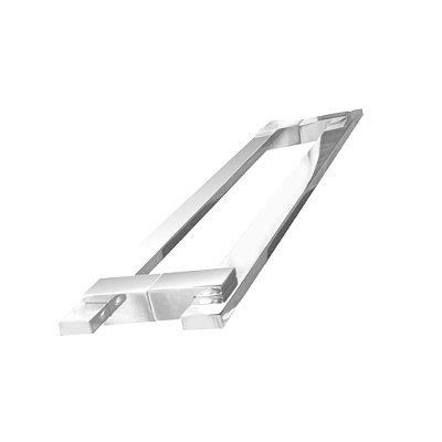 Puxador para porta de vidro e madeira 100 cm auto brilho 200CL Grego Metal