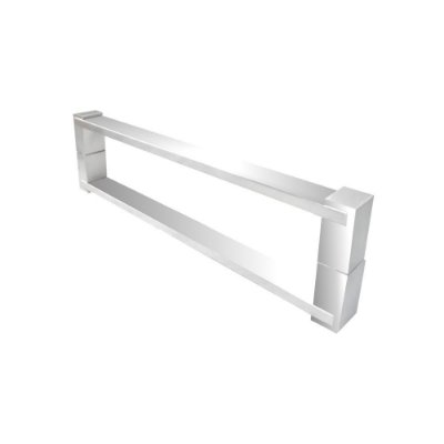 Puxador aço inox para porta de vidro e madeira 30 cm auto brilho 700DE Grego Metal