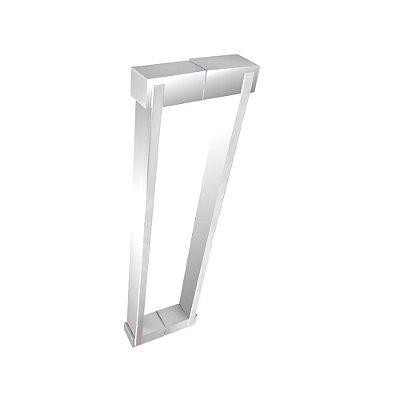 Puxador aço inox polido para portas vidro temperado/madeira 700DE 40 cm Grego Metal