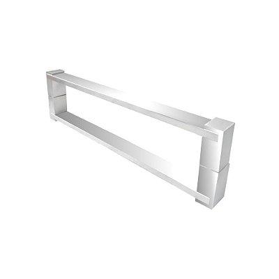 Puxador aço inox para porta de vidro e madeira 80 cm auto brilho 700DE Grego Metal