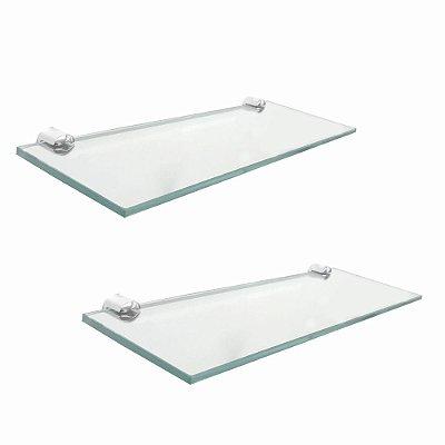 Porta shampoo vidro banheiro kit 2 peças 209RT2 Grego Metal