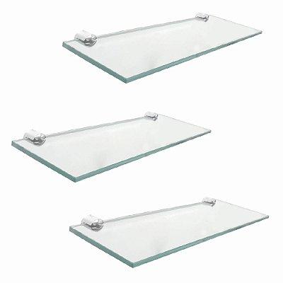 Porta shampoo vidro banheiro kit 3 peças 209RT3 Grego Metal