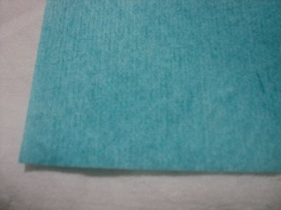 10 UN. ANTI-STATIC WAVES IN WASHABLE BLUE CELLULOSE