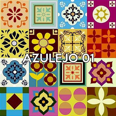 Azulejo 01 - Jogo 90pçs 15x15