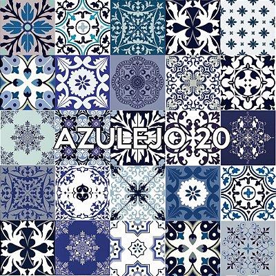 Azulejo 20 - Jogo 90pçs 15x15