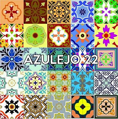 Azulejo 22 - Jogo 90pçs 15x15