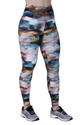 Legging fitness estampada | FT101E | Cós alto anatômico | Bumbum up