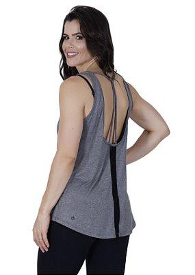 Regata Mullet com recorte e detalhe de tela nas costas - Veja cores