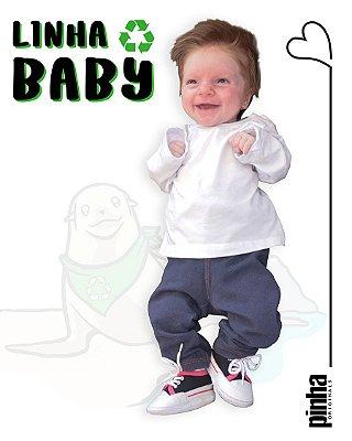 Camiseta Vegana Sustentável básica branca - Linha baby
