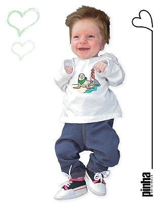 Camiseta Vegana Sustentável Leão Marinho - Linha baby