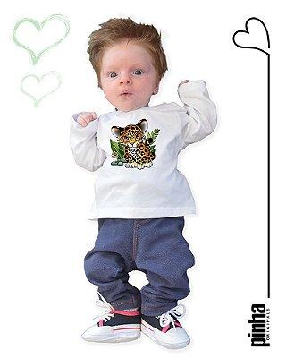 Camiseta Vegana Sustentável Onça Pintada - Linha baby