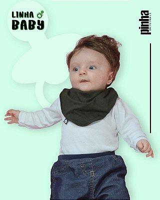 Babador Baby Sustentável - Verde musgo