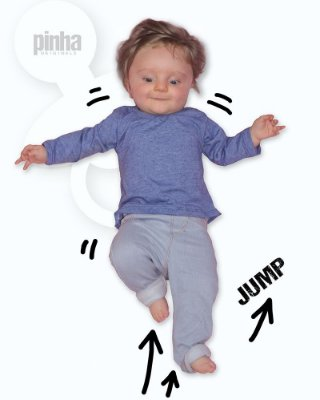 Camiseta Vegana Sustentável básica Azul - Linha baby