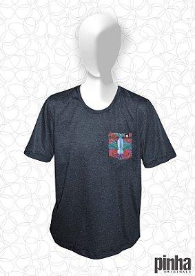 Camiseta com Bolso Floreado- Pinha Originals