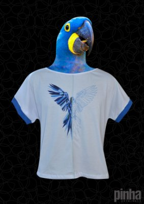 Blusa Arara Azul - Animal Duo