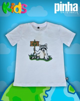 Camiseta Guaxinim - Kids