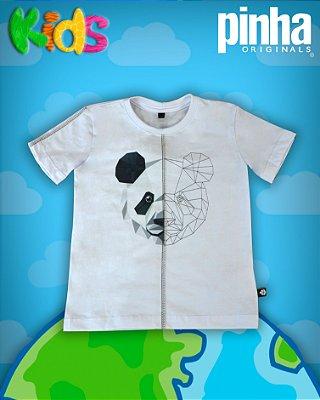 Camiseta Aniamal Duo Urso Panda- Kids