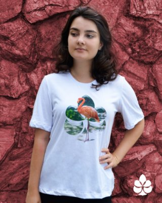 Camiseta Flamingo - Diamante