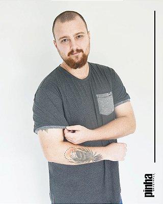 Camiseta Tundora com bolso- Sustentável - Pinha Originals