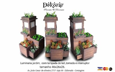 luminária com jardim Dekorar