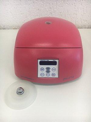 Mini Centrífuga Rosa com Rotor de Angulo Fixo e Adaptadores Gyrozen 220V 50/60Hz-GZ-1312 Pink