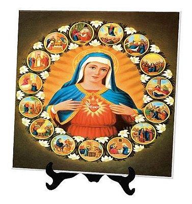 Azulejo Personalizado Sagrado Coração de Maria