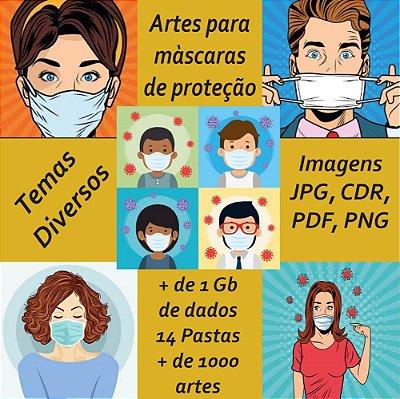 Artes para máscaras de proteção