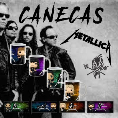 Canecas Personalizadas Rock and Roll Metallica estilo FUNKO