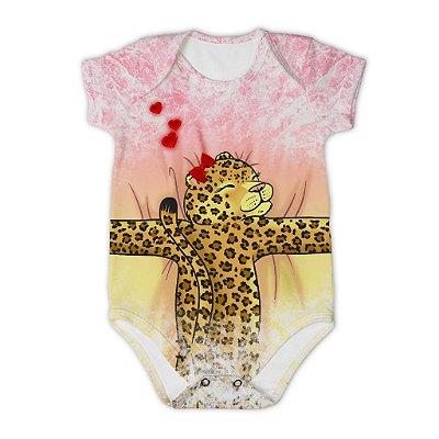 Body Bebê Manga Curta Abraço